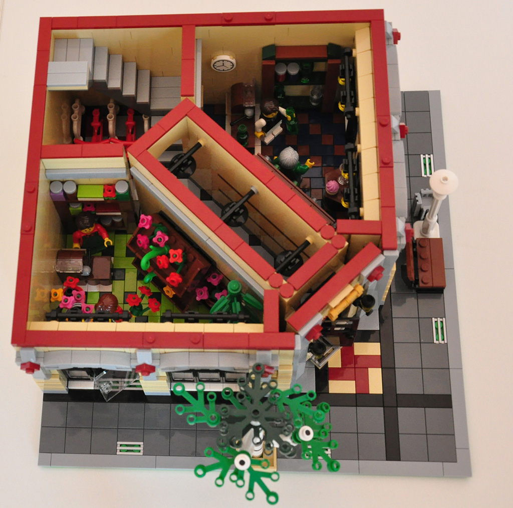lego moc modular wine and flower shop. Black Bedroom Furniture Sets. Home Design Ideas